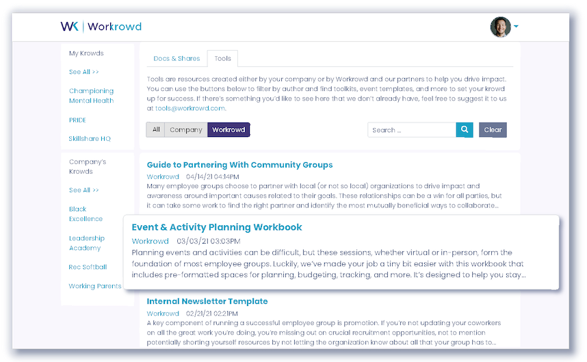 wider network of resources & events